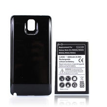 Extended Phone Battery 6800mAh + Black Cover Case For Samsung Galaxy Note 3 Note3 N9000 N9005 N900A N9002 N900 Spare Bateria
