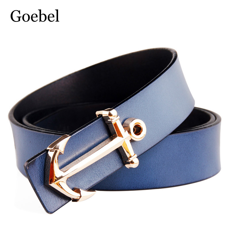Goebel Brand Name Belts Men S Individuality Cow Split Leather Mens