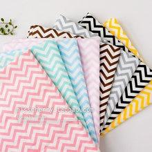 160x50cm básico doce-colorido listras onda tecido de algodão sarja diy crianças roupa de cama 180 g/m
