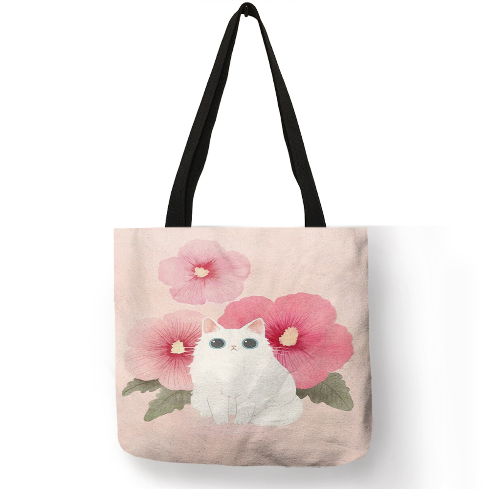Assorted Hand Painted Cat Tote Bags