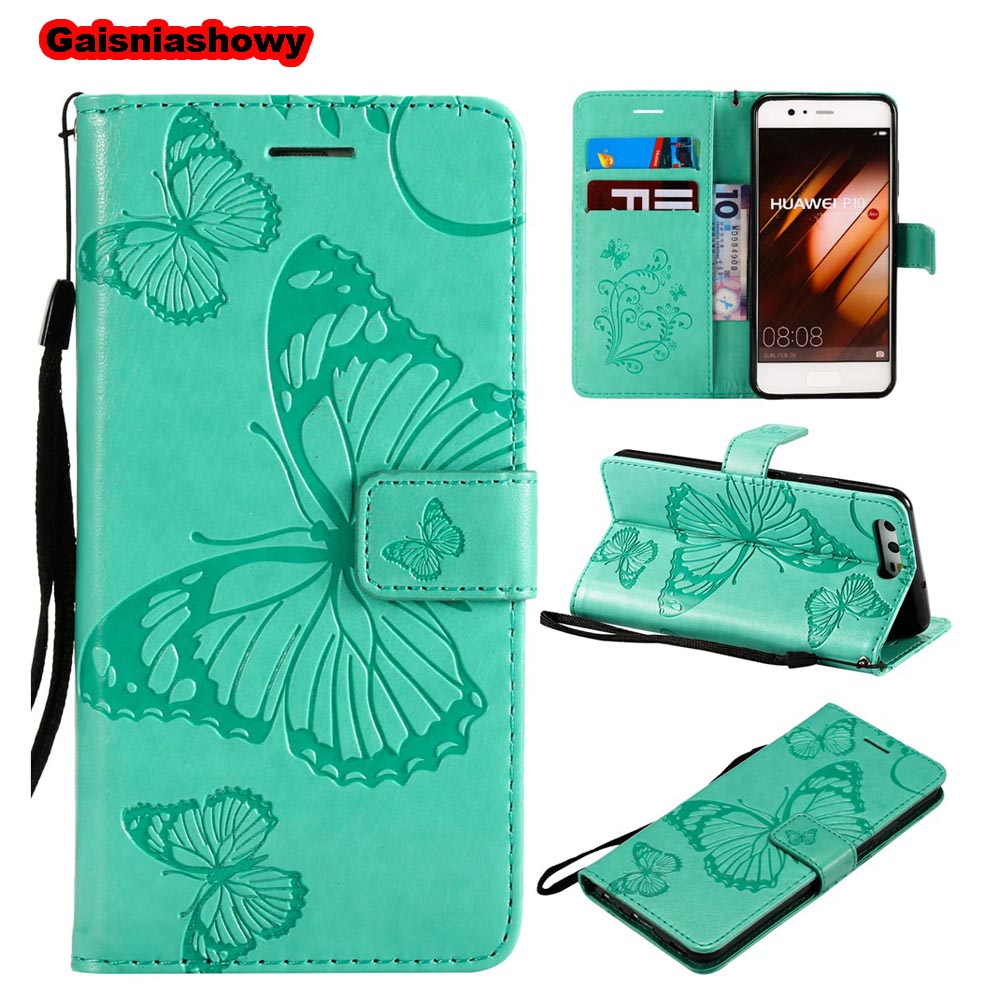 Case For Huawei P10 Cut 3D Butterfly Stand PU Leather Flip Case For Huawei P10 Lite Phone Case Cover Shell Coque