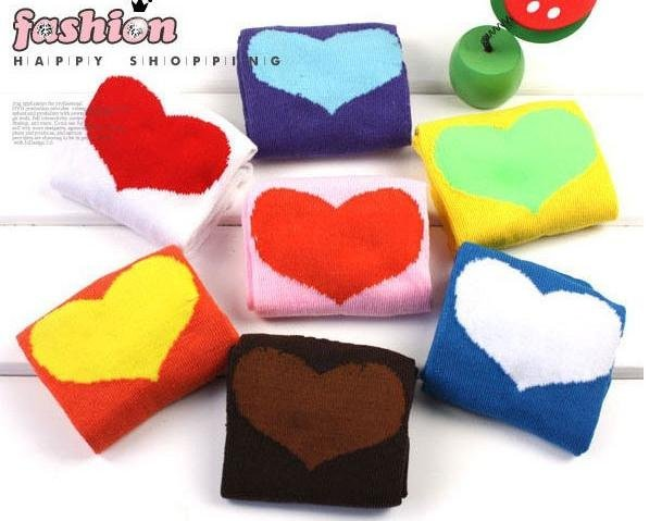 Korean candy color heart socks / boat socks / lady socks