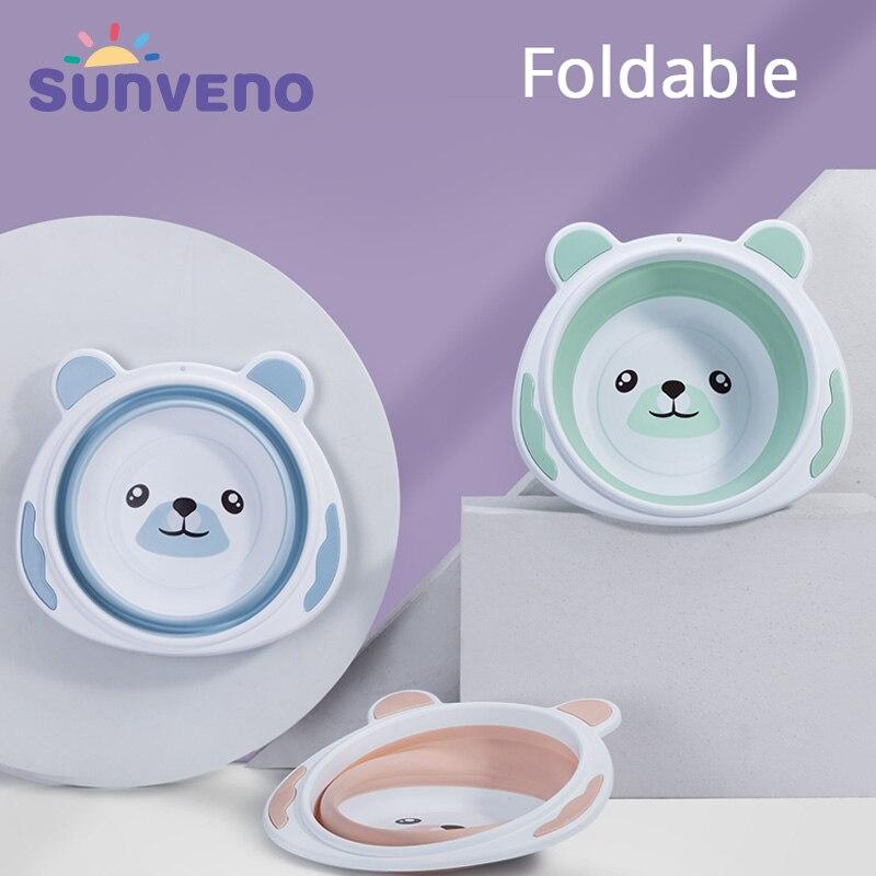 Baby Portable Washbasin Baby Bath Tub Folding Washbasin Newborn Infant Face Foot
