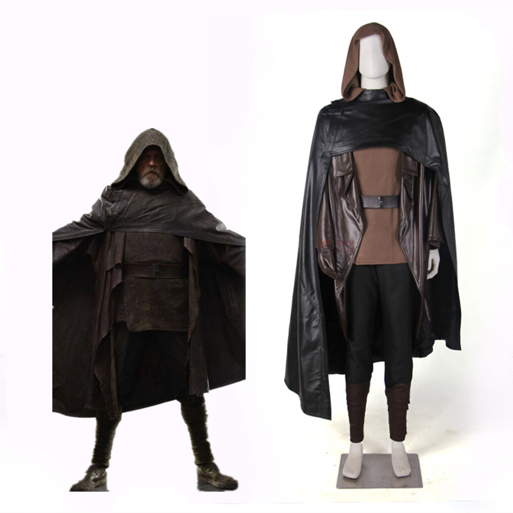 Athemis movie  Costume Star Wars The Last Jedi Luke Skywalker Costume  Cosplay  For Men