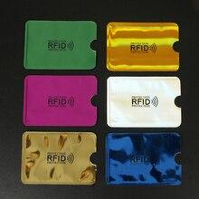 5PC Anti Rfid Card Holder Blocking Reader Lock id holders Protection Metal Credit Aluminium