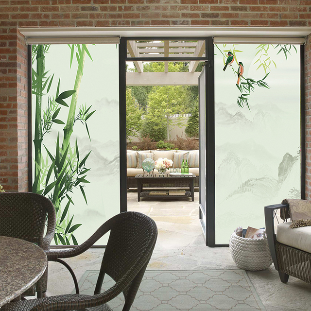 Under The Wind Sand Frosted Glass Stickers Balcony Sliding Door