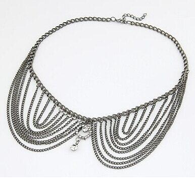 Free Shipping 2018 new jewelry accessories European Punk fashion noble tassel doll collar rhinestone necklace chain tassel women