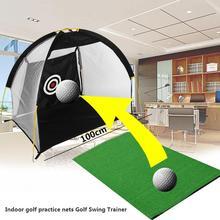 Portable de los deportes 1 M Jaulas Neta Práctica de Entrenamiento de Golf Ayudas a la Formación con Estera Libre