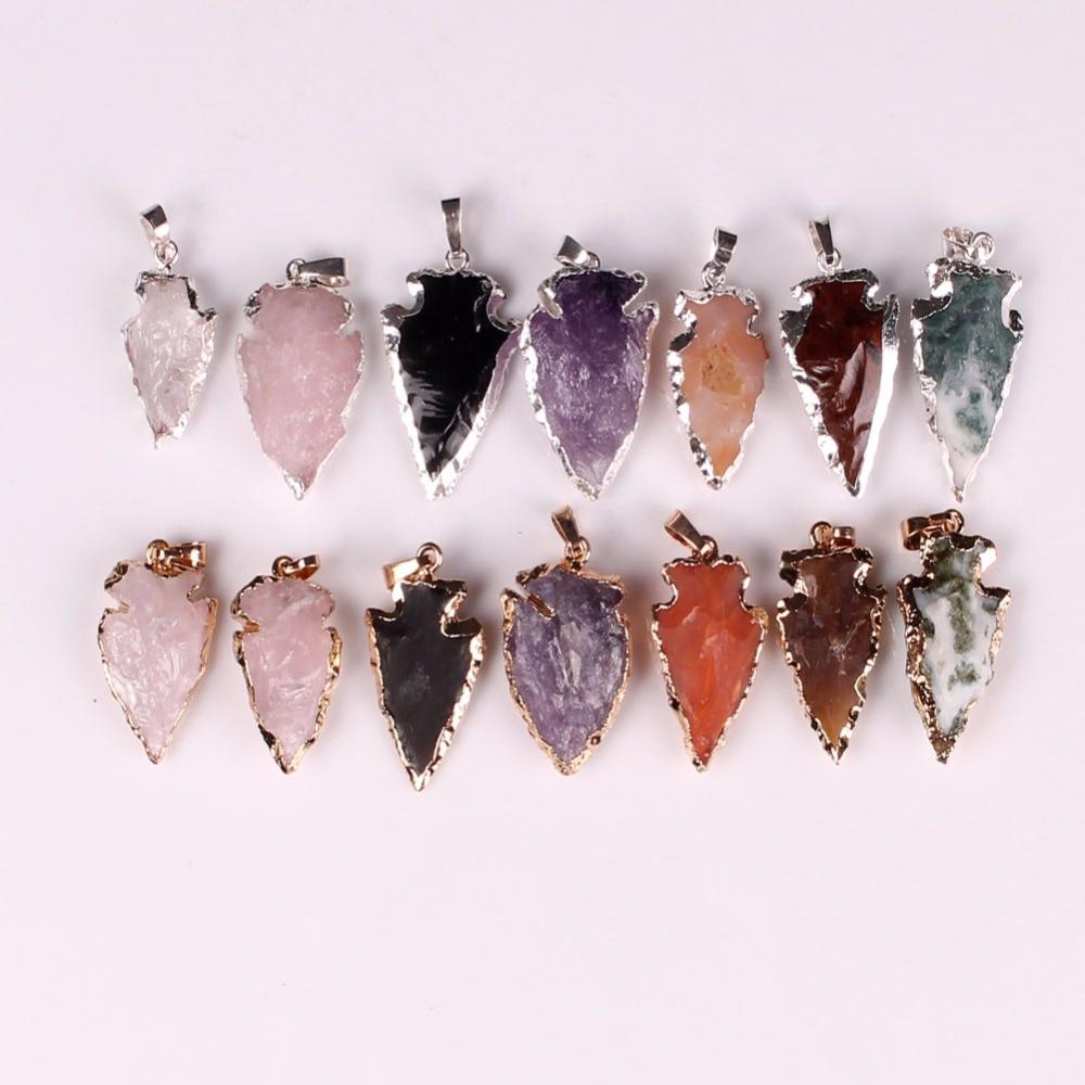 Super Ambachtelijke Zilveren Kleur Metalen Wrap Malachiet Sieraden Ruwe Steen Roze Roze Quartz Geode Crystal Natuurlijke Rock Hanger