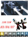 2016 2 PCS 12V-75W/35W H3 H4 H7 Xenon HID Lamp Bulb Light Headlight For All Cars 3000K-12000K Car Light Source