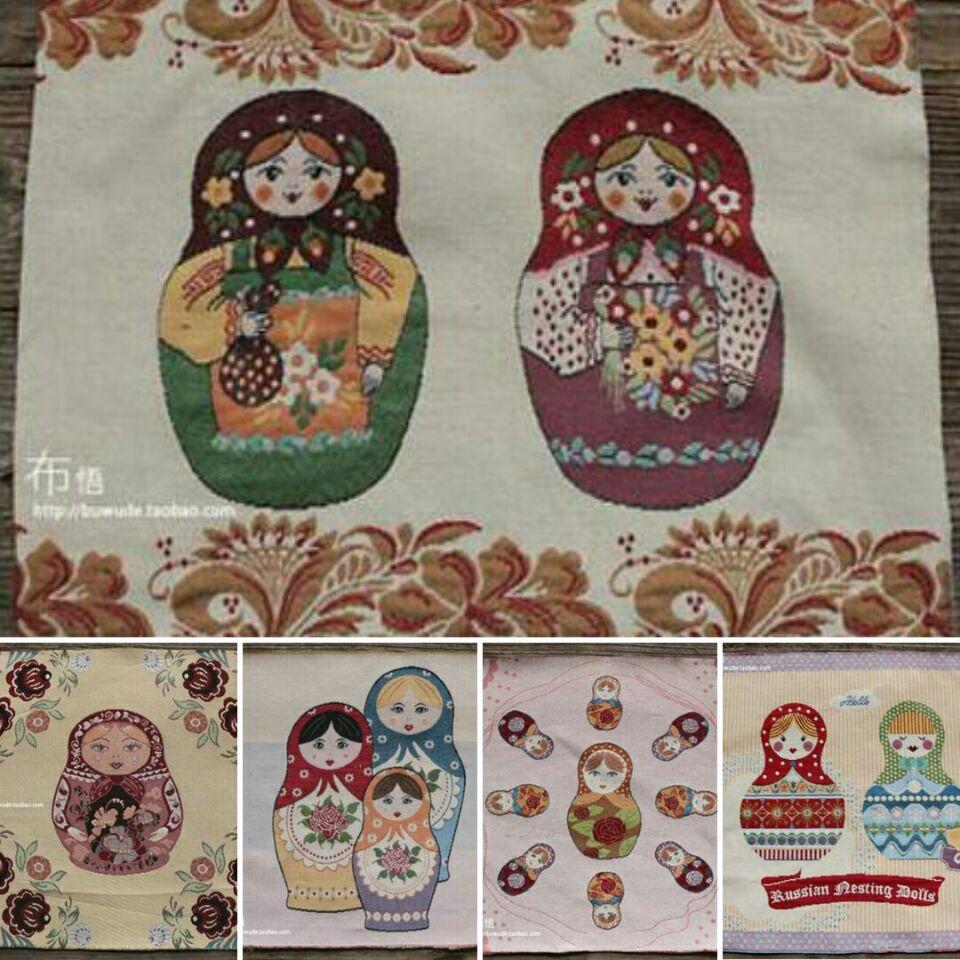 5 Farben 50x50 cm Russische Puppe Muster Polyester Baumwolle ...