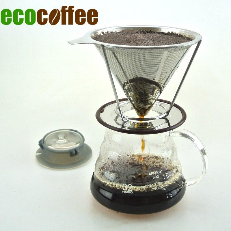 Nový přílet Eco Coffee Value Bundle 580ML Server + Kávový filtr košík Americký kávovar Coffee Server Pohodlná sada