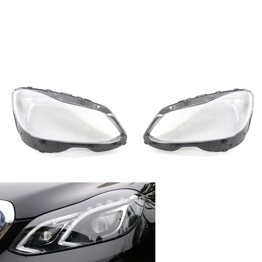 2X <font><b>Headlight</b></font> Lens Headlamp Cover For Benz E Class <font><b>W212</b></font> E200 E250 E300 E350 E400 E500 E550 14-16 image