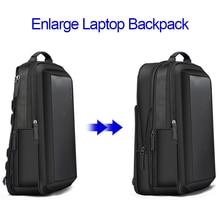 BOPAI 다기능 확대 노트북 배낭 USB 충전 15.6inch 남자 배낭 안티 절도 대용량 남성 여행 가방