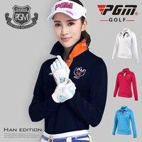 New! PGM Golf Shirt Sports Wear Women's Long Sleeved Trainning T shirt Female Clothing Ropa De Golf Polera Hombre Apparel