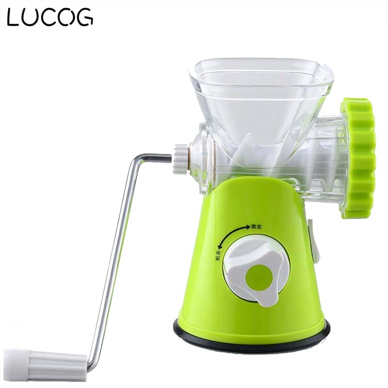 LUCOG Multifunctional Kitchen Manual Meat Grinder 3-In-1 Homemake Sausage Machine Pasta Maker Vegetable Grinder Mincer набор для кухни pasta grande 1126804