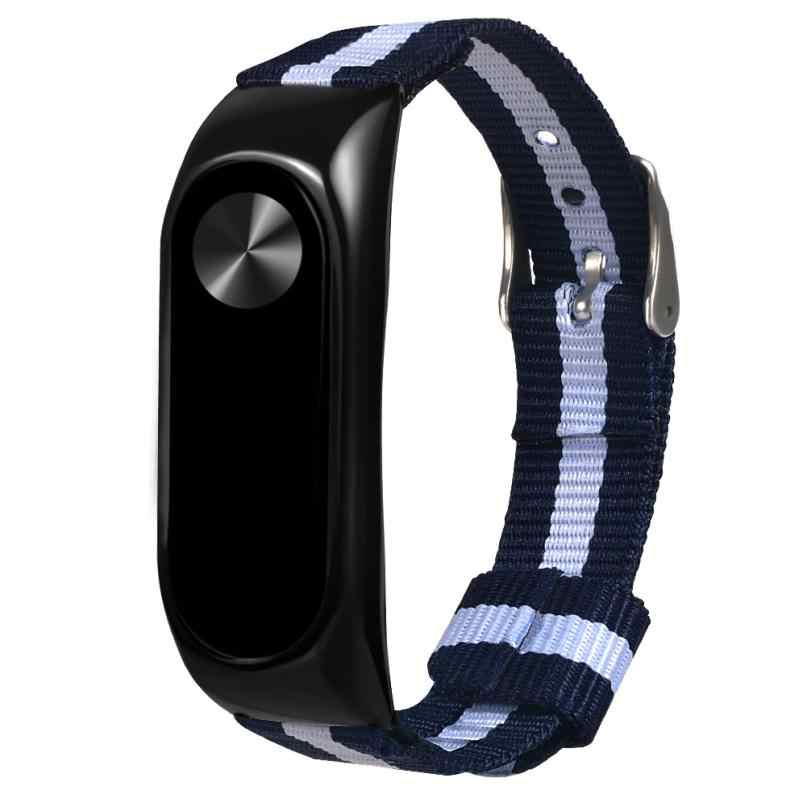 2018 New Fashion Navy Nylon Sport Wristband Replacement Watch Strap For Xiaomi Mi Band 2