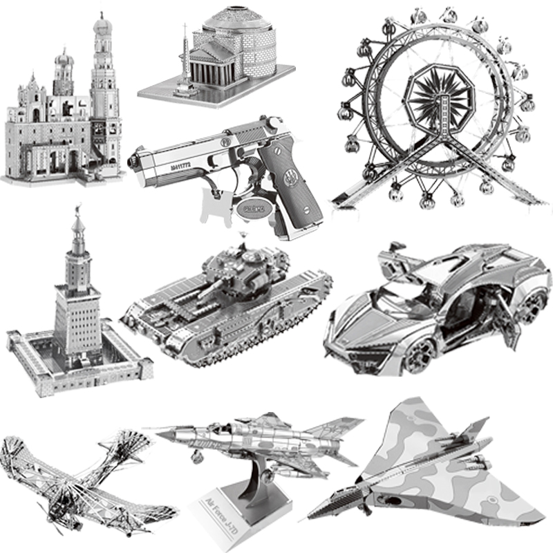 36-style 3D Metal Puzzles Model DIY Laser Cut Manual Jigsaw Kits For Adults Children KIDS Collectional Educational Toys&Hobbies