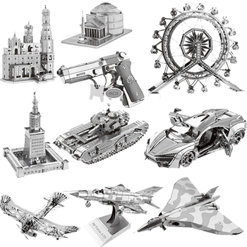36-style 3D Metal Puzzles Model DIY Laser Cut Manual Jigsaw Kits For Adults Children KIDS Collectional Educational Toys&Hobbies soccer-specific stadium