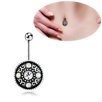 Wholesale and retail Unisex Women 316L Steel Fashion Navel Belly Rings Retro Body Piercing Jewelry