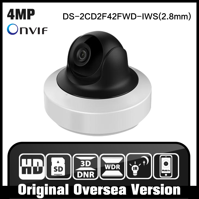 HIk English Version IP Camera 4MP WDR Mini PTZ Network Camera DS-2CD2F42FWD-IWS with WIFI free shipping in stock new arrival english version ds 2cd2142fwd iws 4mp wdr fixed dome with wifi network camera