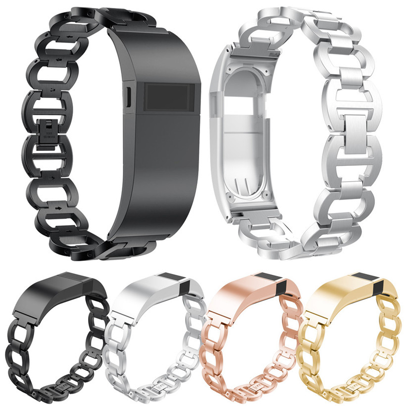 CARPRIE Luxury Accessory Stainless Steel Watch Band With Case For <font><b>Fitbit</b></font> <font><b>Charge</b></font> <font><b>HR</b></font> 180330 drop shipping