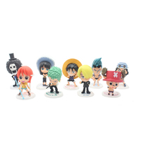 Limited Collector 12CM 9pcs Set One Piece New World Anime Figuarts SPECIAL MH POP Luffy Figuarts
