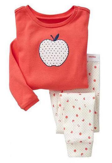 Sleepwear Autumn Red Long Sleeve Tops+ White Pants 2pcs Kids Pajamas Sets Cotton Boys Spring Girls Underwear Children Clothing(China)