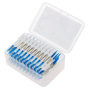 Double-Floss Toothpick Interdental-Brush Silicone Head-Hygiene 20/40/120/200pcs