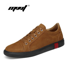 Plus Size Men Shoes High Quality Natural Leather Casual Flats Breathable Outdoor Sneakers For