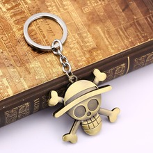 Anime One Piece Bronze Key Chain Pendant