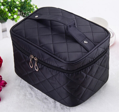 TEXU Fashion Multi Functional cosmetic bag women's large capacity storage handbag travel toiletry makeup bag functional capacity of mango leave extracts