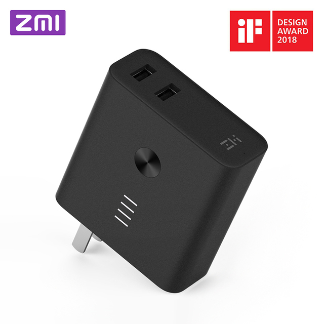 Original Xiaomi ZMI 2-in-1 6500mAh Power Bank with Wall Charger Quick  Charge 3.0 Two-Way Fast Charge Portable Powerbank iF 2018 e9be908b47