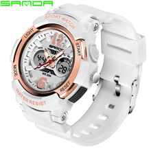 SANDA Brand Electronic Sport Watch Women Watches Ladies Led Digital Wristwatch For Female Clock Montre Femme Relogio Feminino