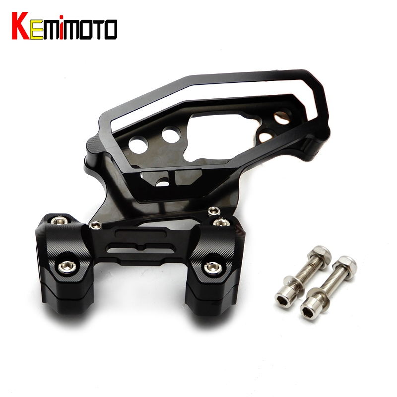 KEMiMOTO For Yamaha MT-09 FZ-09 MT 09 2017 FZ 09 MT09 2013-2017 Speedometer Cover Case With Handlebar Fat Bar Risers Mount Clamp