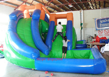 2016 best quality PVC commercial inflatable slide with climing wall inflatable sports font b entertainment b