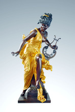 hot deal buy  western   classical bronze woman sculpture pretty girl statues home decoration arts collection