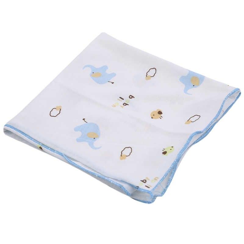 3 unids/set servilleta cuadrada pequeña para Bebé/servilleta suave de algodón de dibujos animados impresa Toalla de baño Toalla de Cara de Bebé Multifunctioanl