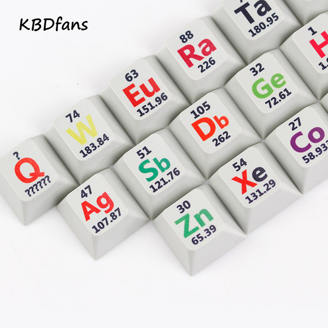 Online shop cherry profile pbt keycaps 26 keys chemical element cherry profile pbt keycaps 26 keys chemical element periodic table for mechanical keyboard the sublimation urtaz Images