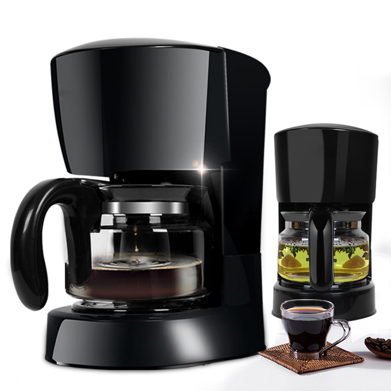 DMWD 600ml American Coffee Maker Automatic Electric Tea Coffee Machine Drip Coffee Pot Heat Preservation Prevent Dry Burning coffee maker uses the american drizzle to make tea drinking machine