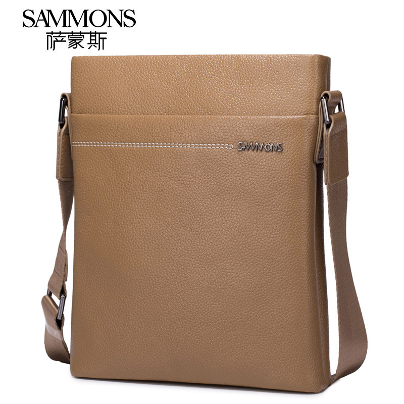 Sammons Small Genuine Leather Shoulder Bag Messenger Bags Luxury Brand Crossbody Bag Fashion Cowhide Leather Flap Bag