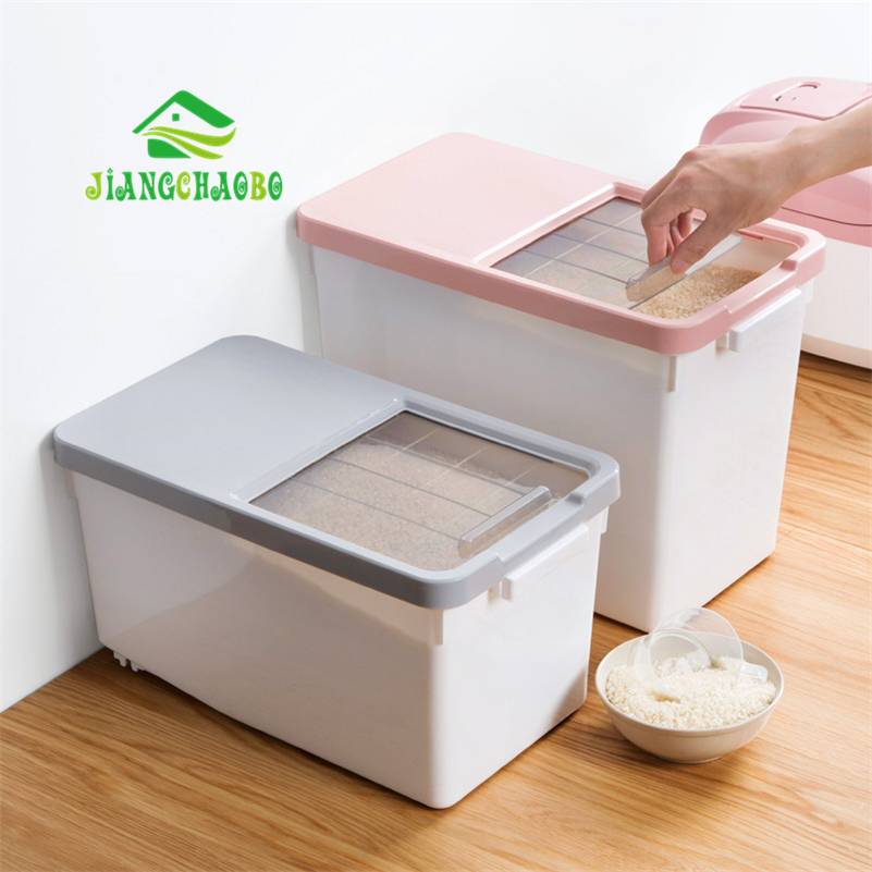 Household Sealed Insect-resistant Rice Barrel Rice Box Plastic Sealed Rice-resistant Cylinder 15kg Rice Kitchen Barrel