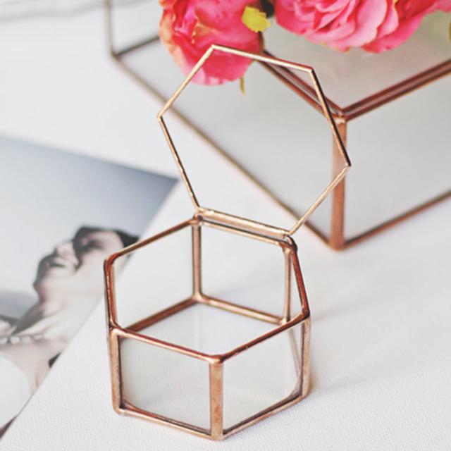 Geometrical Clear Glass Jewelry Box