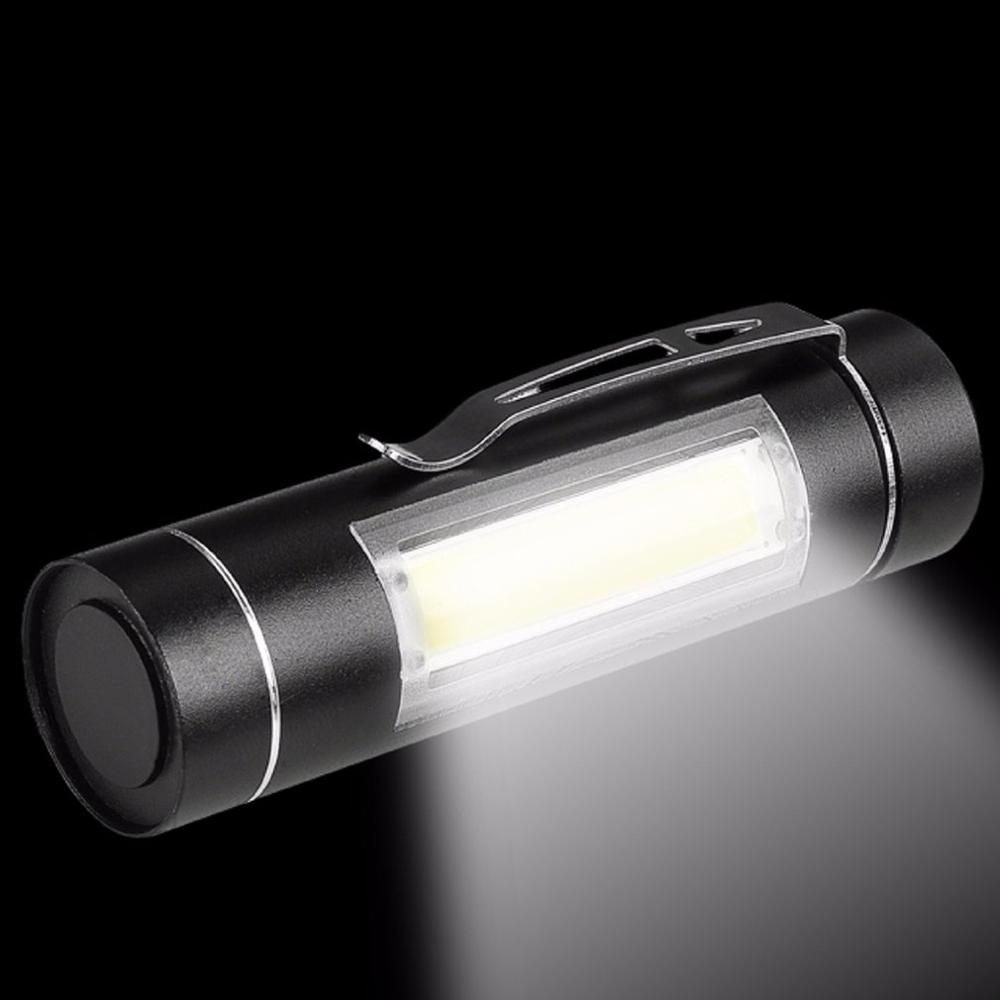 Super Portable Mini COB LED Flashlight 14500/AA Torch Working Pocket Pen Lamp With Clip Daily Waterproof Penlight