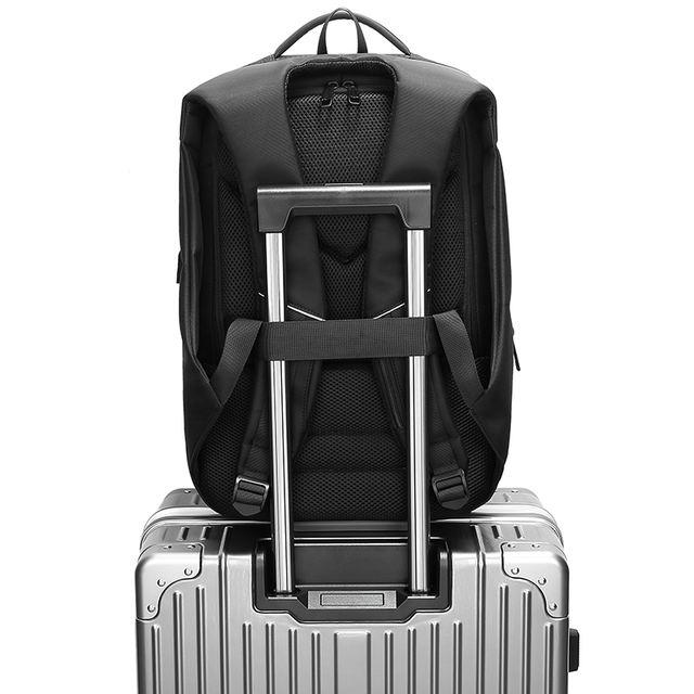 Men Travel Backpack Large Capacity Teenager Male Mochila Back Anti-thief Bag USB Charging 17.3″ Laptop Backpack Waterproof n0007