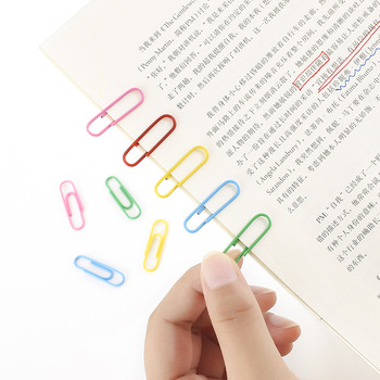 160pc coloful Brief Style Shaped Metal Paper Clip Bookmark Stationery School Supplies Office Supply Escolar Papelaria Bookmark
