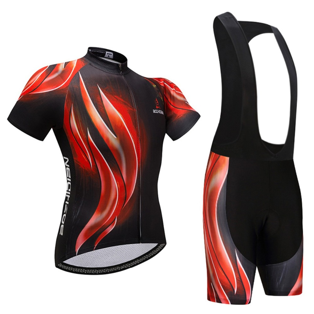 Mens Cycling Clothing Bibs Set Maillot Ciclismo Cycling Jersey & Mountain Bike Bib Shorts Kit Cycling Clothes Bibs Set Equipe