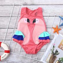 Детский купальный комплект из Дети платье для малышей, девочек детская одежда для девочек с оборками, купальник с принтом в виде птиц купальник пляжный комбинезон одежда kız bebek mayo A1