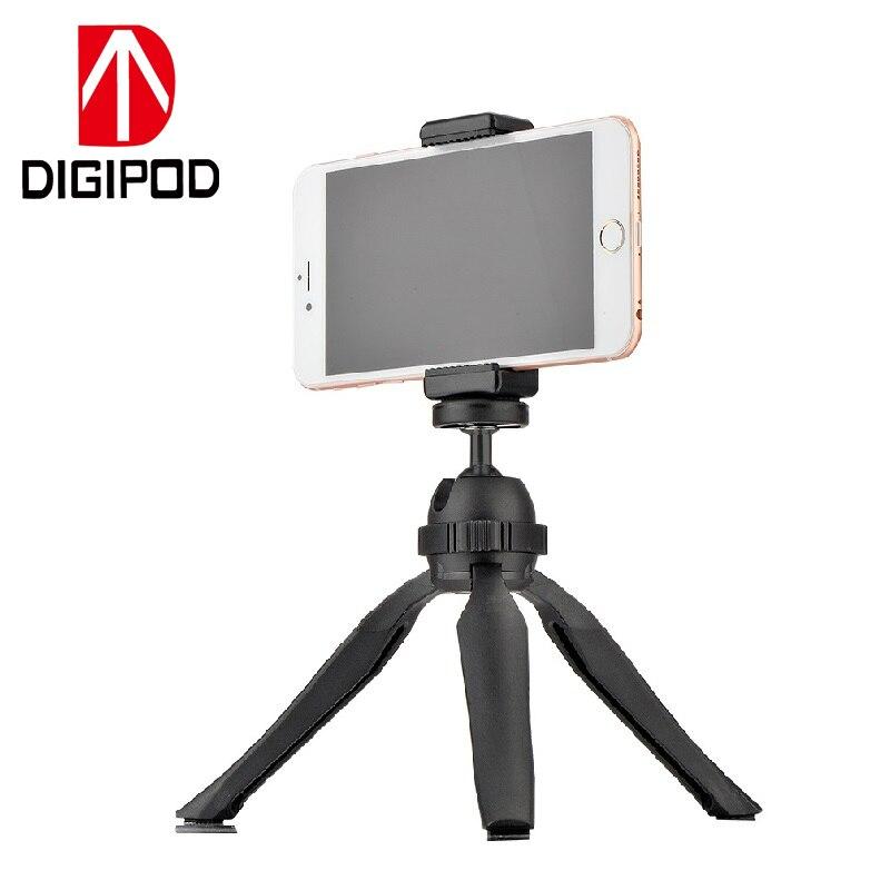 DIGIPOD Black PocketPod Tabletop Mini Table Pocket Tripod Gorillapod with Mobile Phone Holder S-060P+MH-04T pocket tripod pro