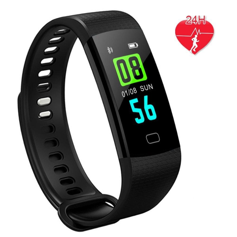 Y5 Smart Band Sport Intelligente Bracelet Bracelet Pulse Montre Sang Pression Activité Sommeil Fitness Tracker Santé Bande Noir